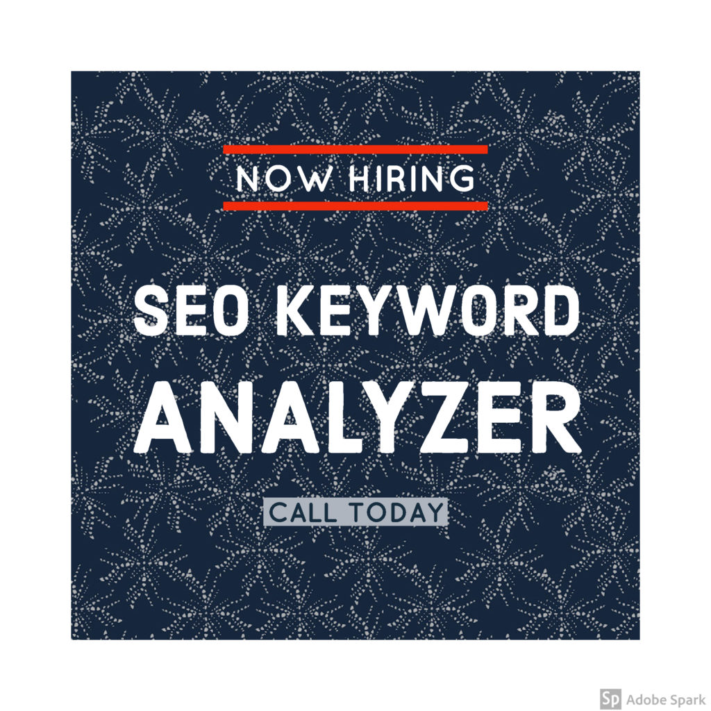 Keyword research analyst